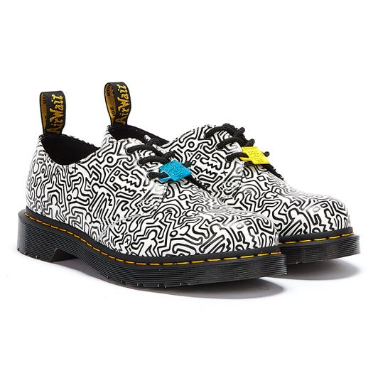 Dr. Martens x Keith Haring 1461 Smooth White / Black Shoes