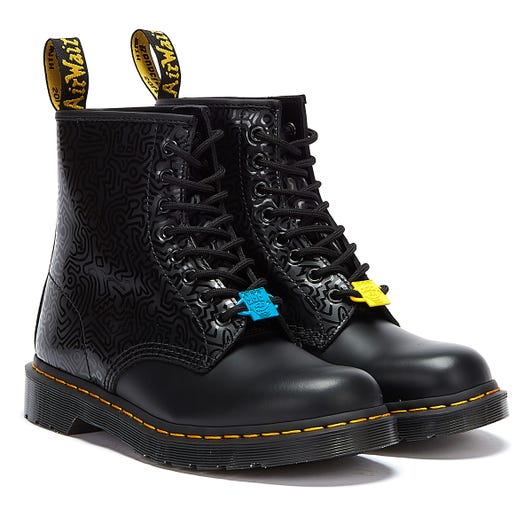 Dr. Martens x Keith Haring 1460 Smooth Black Boots