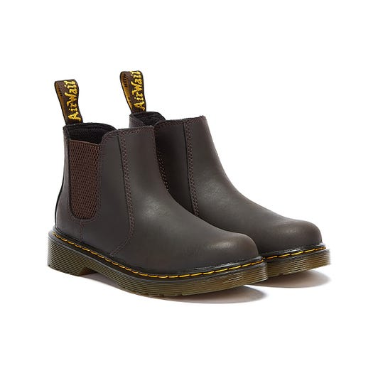 Dr. Martens 2976 Wildhorse Lamper Junior Brown Boots