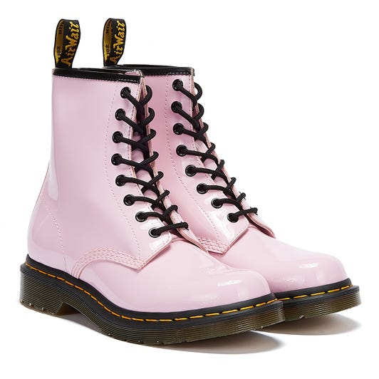 Dr. Martens 1460 Patent Lamper Womens Pink Boots