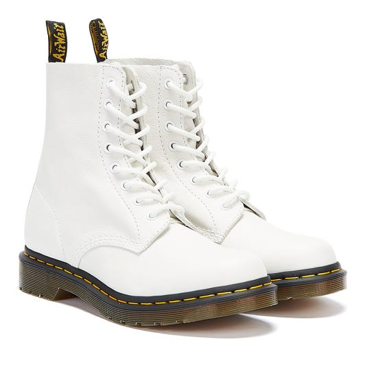 Dr. Martens 1460 Pascal Virginia Womens White Boots
