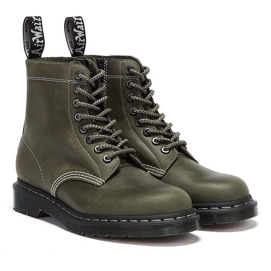 Dr. Martens 1460 Zipped Streeter Mens  Dark Green Boots