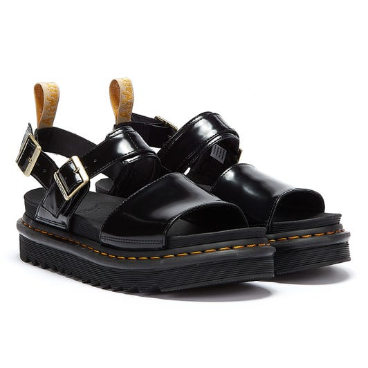 Dr. Martens Voss Oxford Vegan Womens Black Sandals