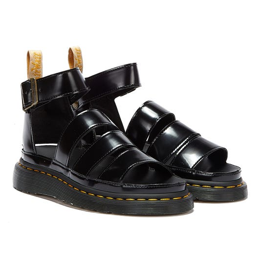 Dr. Martens Clarissa II Oxford Vegan Womens Black Sandals