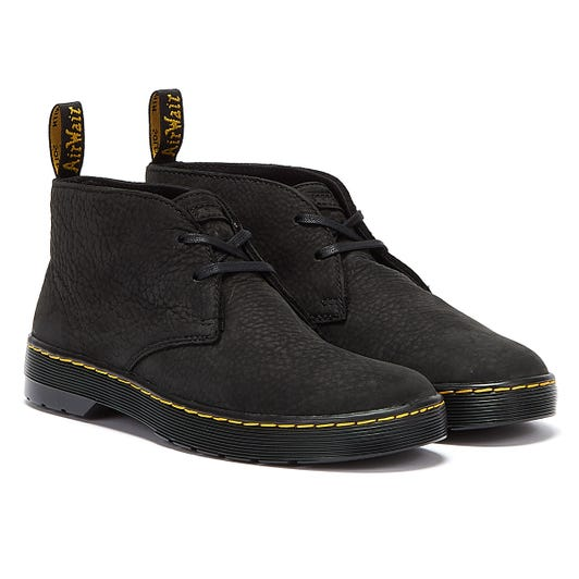 Dr. Martens Cruise Cabrillo Milled Nubuck WP Mens Black Shoes