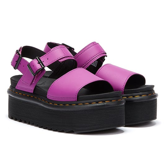 Dr. Martens Voss Quad Hydro Womens Bright Purple Sandals