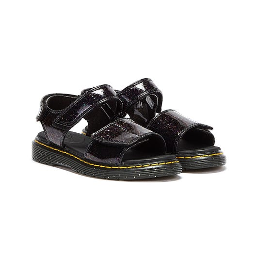 Dr. Martens Romi Cosmic Glitter Junior Purple Sandals