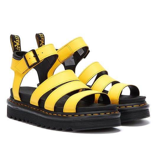 Dr. Martens Blaire Hydro Womens Yellow Sandals