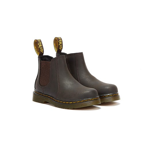 Dr Martens 2976 Gaucho Wildhorse Toddlers Brown Boots