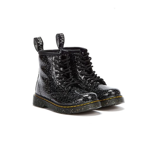 Dr Martens 1460 Cosmic Glitter Toddlers Black Boots