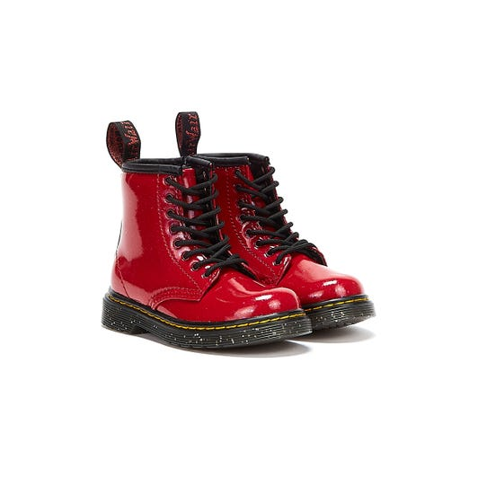 Dr Martens 1460 Cosmic Glitter Toddlers Red Boots