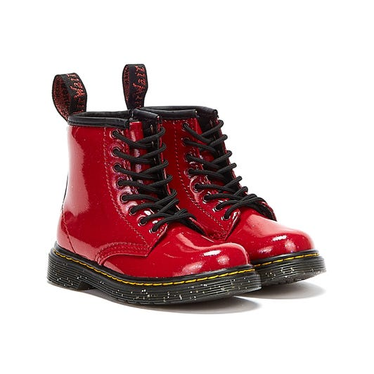 Dr Martens 1460 Cosmic Glitter Junior Red Boots