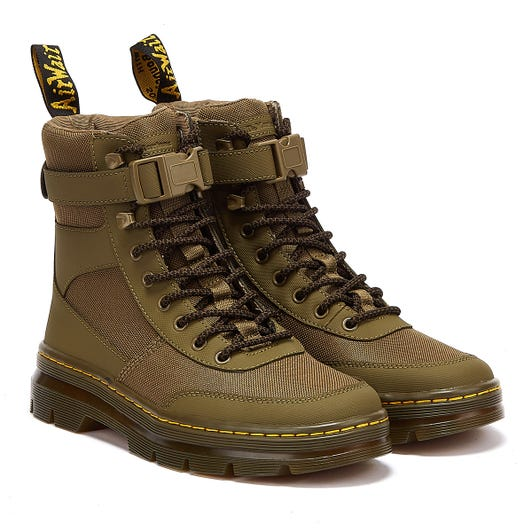 Dr. Martens Combs Extra Tough Poly Ajax Mens Olive Green Boots