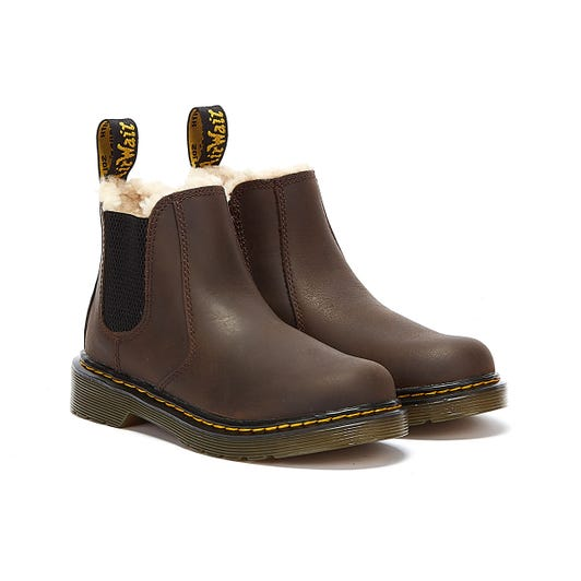 Dr. Martens 2976 Leonore Junior Dark Brown Boots