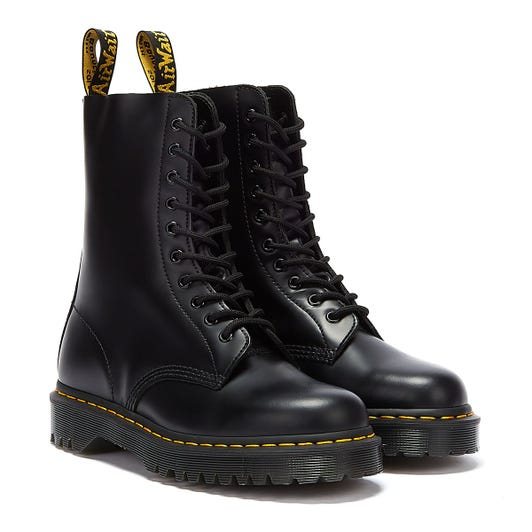Dr Martens 1490 Bex Smooth Leather Mens Black Boots