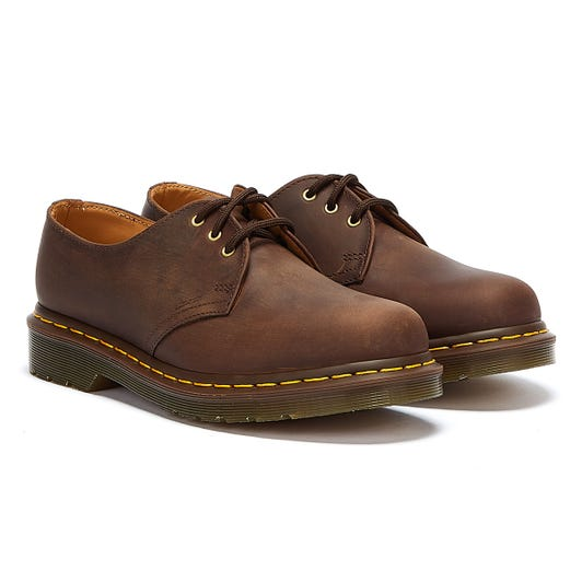 Dr. Martens 1461 Crazy Horse Womens Gaucho Brown Leather Shoes