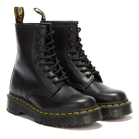 Dr. Martens 1460 Bex Smooth Leather Womens Black Boots