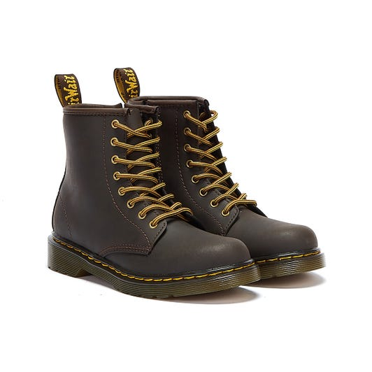 Dr. Martens 1460 Wildhorse Lamper Junior Brown Boots