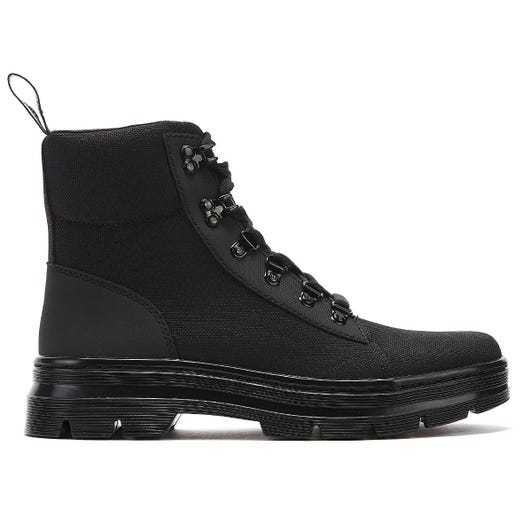 Dr. Martens Combs Womens Black Mono Boots
