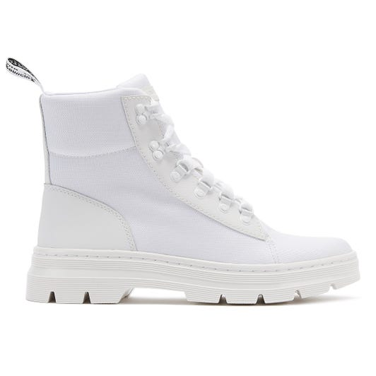 Dr. Martens Combs Womens White Mono Boots