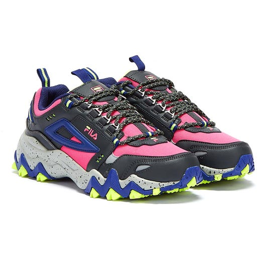 Fila Oakmont Trail Womens Pink Glo / Blue Trainers