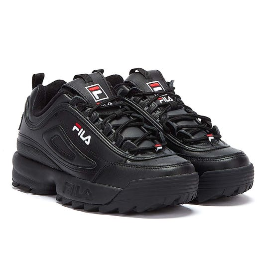 Fila Disruptor II Premium Black / White / Fila Red Trainers