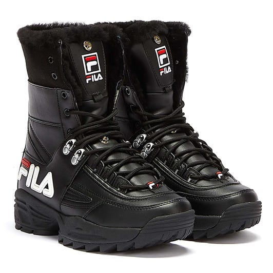 Fila Disruptor Womens Black Boots