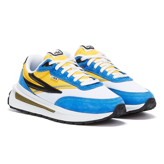 Fila Renno Mens White / Yellow / Blue Trainers