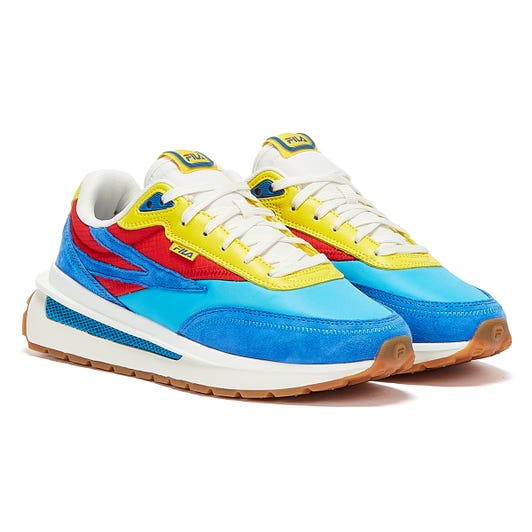 Fila Renno Mens Blue / Red / Yellow Trainers