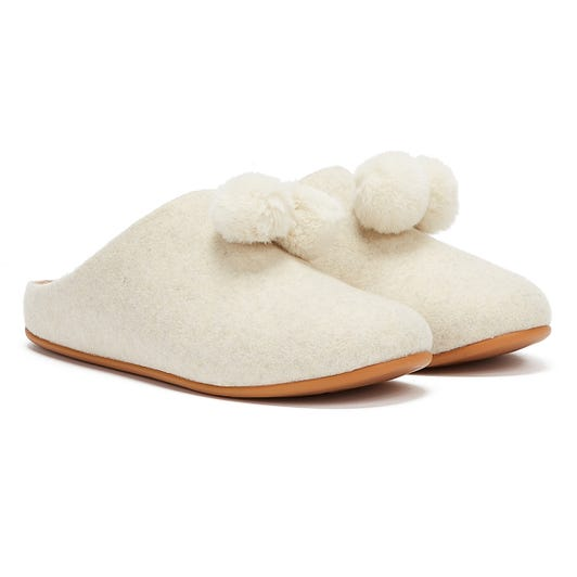 FitFlop Chrissie Womens Ivory Slippers