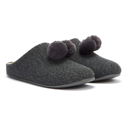 FitFlop Chrissie Womens Pewter Grey Slippers