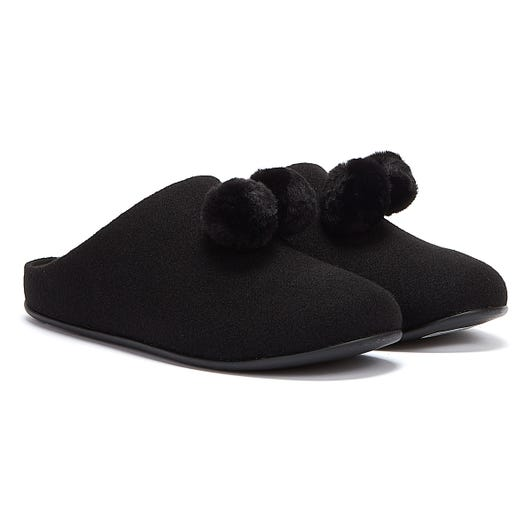 FitFlop Chrissie Womens Black Slippers