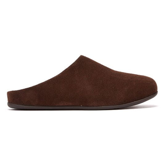 FitFlop Shove Mule Leather Mens Brown Slippers