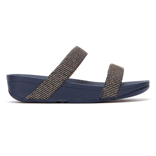 FitFlop Lottie Glitter Stripe Womens Navy Sandals