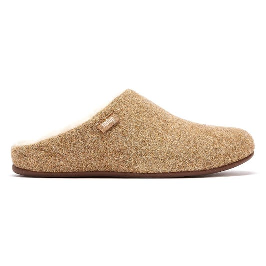 FitFlop Chrissie Glimmerwool Womens Gold Slippers