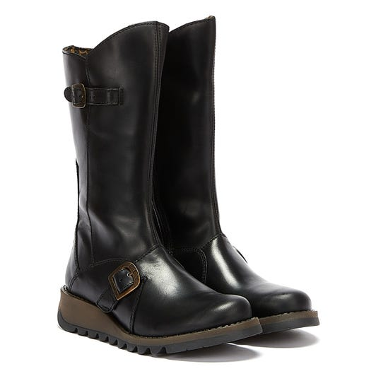 Fly London Womens Black Mes 2 Leather Boots