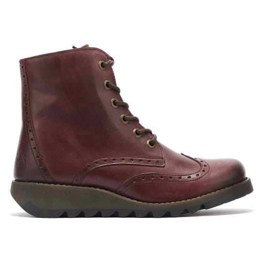 Fly London Sarl Womens Purple Leather Boots