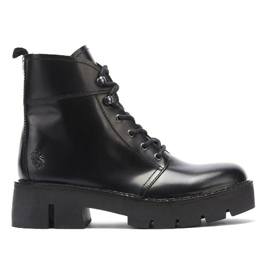 Fly London Bola Womens Black Leather Boots