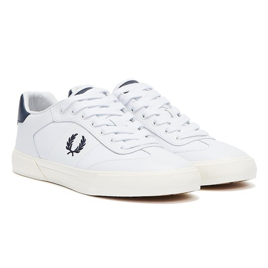 Fred Perry Clay Leather Mens White / Inky Blue Trainers