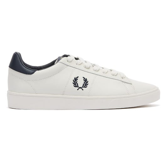 Fred Perry Spencer Leather Mens Porcelain / Navy Trainers