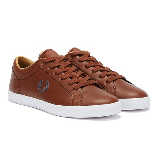 Fred Perry Baseline Mens Tan Leather Trainers