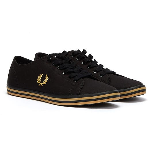 Fred Perry Kingston Twill Mens Black Trainers