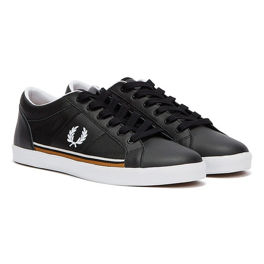 Fred Perry Baseline Tipped Mens Black / White Trainers