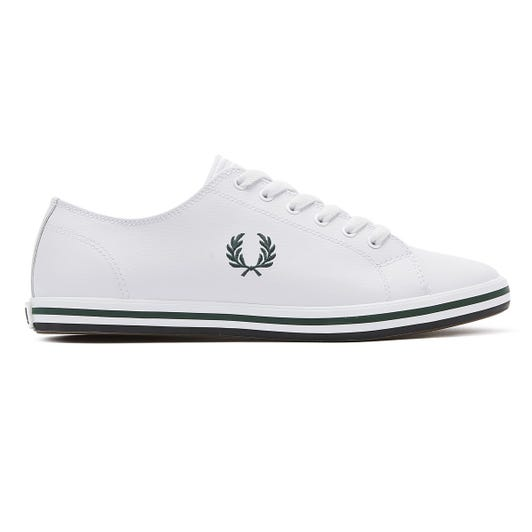 Fred Perry Kingston Mens White / Ivy Leather Trainers