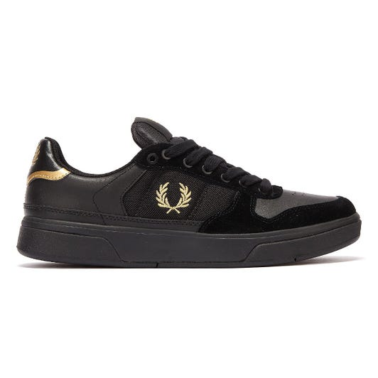 Fred Perry B300 Mens Black / Gold Trainers
