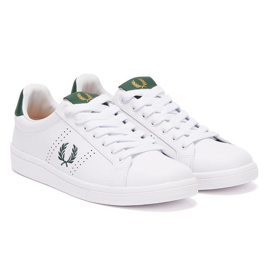 Fred Perry B721 Mens White / Green Trainers