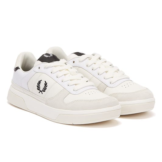 Fred Perry B300 Mens White / Black Trainers