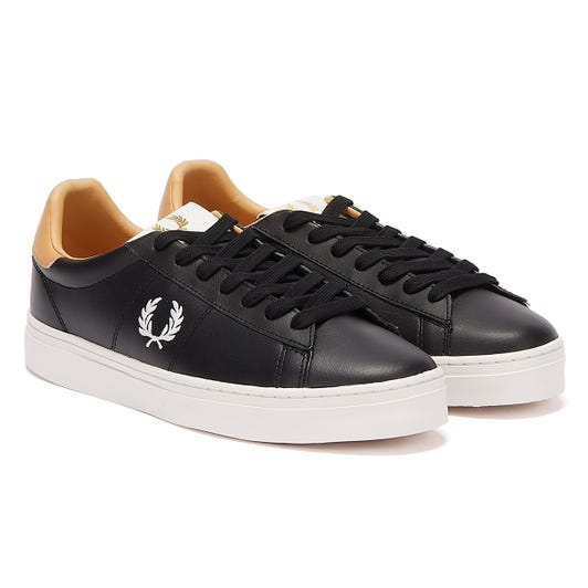 Fred Perry Spencer Leather Mens Black / White Trainers
