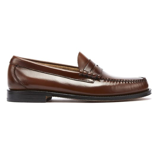G.H. Bass & Co. Weejuns Heritage Larson Mens Mid Brown Penny Loafers