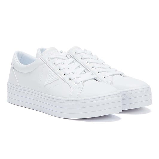 GUESS Brodey 3 Womens White / White Trainers